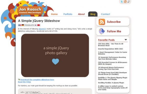 A Simple jQuery Slideshow