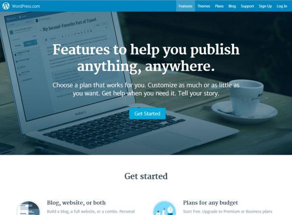 WordPress公式レンタルブログサービス
